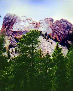 A photo I took of Presidents carved out of rock...