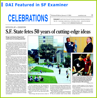 DAI featured in SF Examiner newspaper